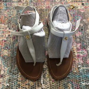 Ralph Lauren white strappy sandals